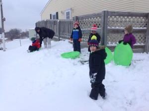 preschool sledding