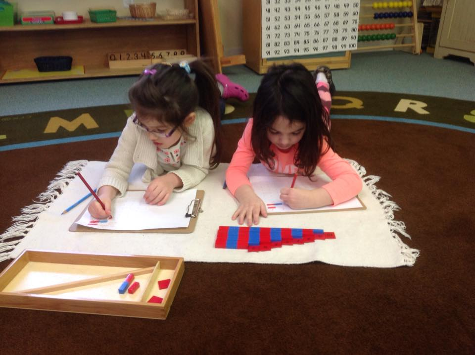 working together using the tabletop number rods