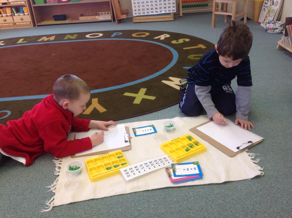 Working together on addition and counting
