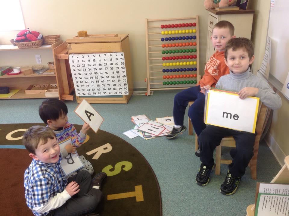 the boys playing school