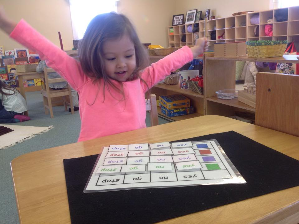 sorting sight words by word and color