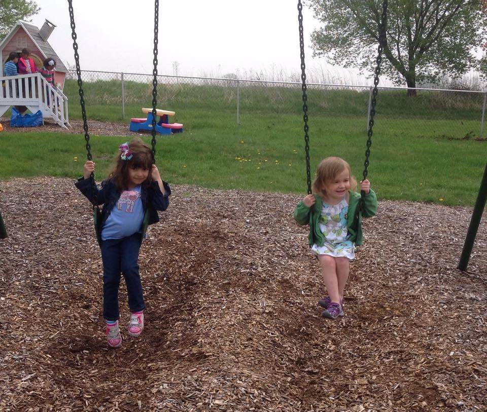 Recess on the swings
