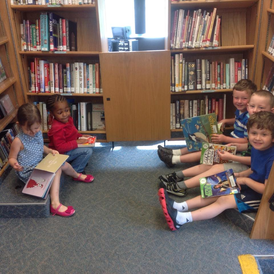 Reading today on the bookmobile