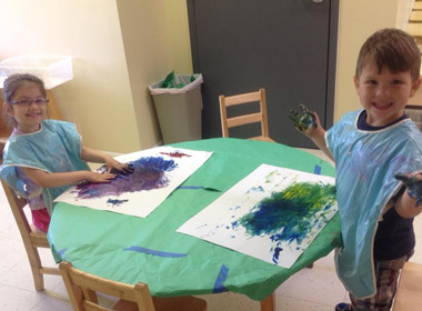 Canton Preschool Messy Art