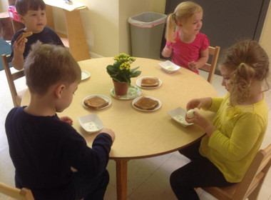 Canton Preschool Eggs And Toast Snack