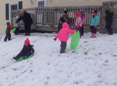 Canton Preschool Sledding