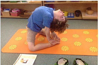 Canton Preschool Yoga Camel Pose