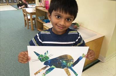 eric carle inspired art project