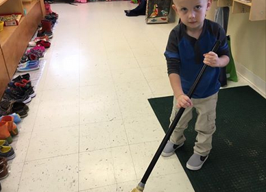 preschool sweeping