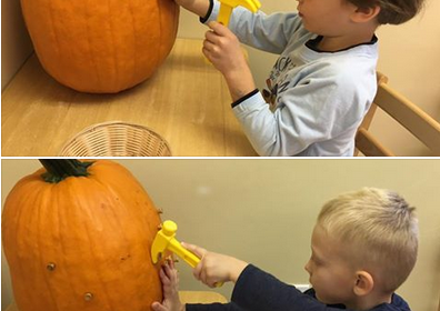 preschool pumpkin pounding
